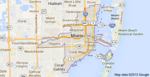 Miami Car transport service Map